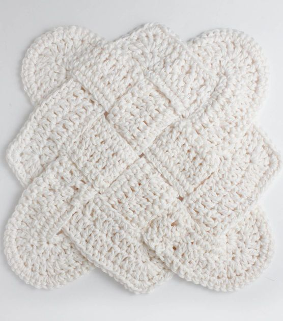 FREE Crochet Pattern   Sailor's Knot Crochet Dishcloth   Click through for FREE Pattern   Supplies available at Joann.com