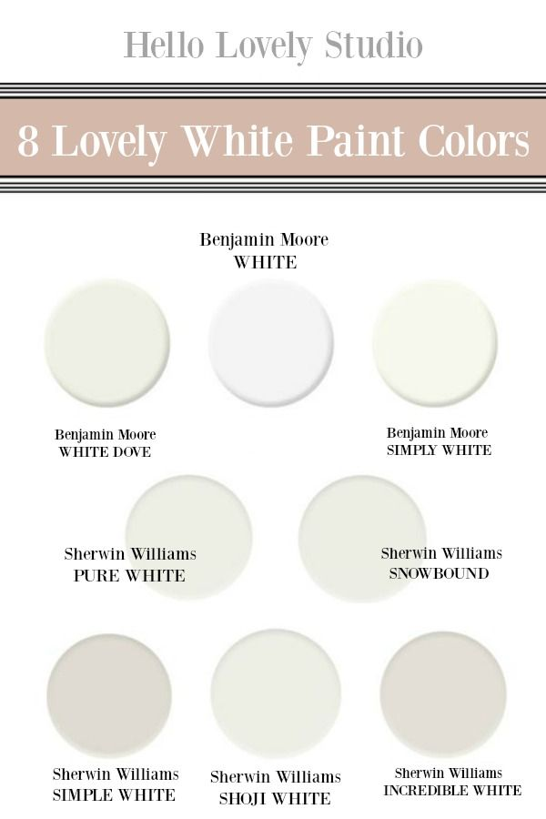 8 Beautiful White Paint Colors Finds White Paint Colors