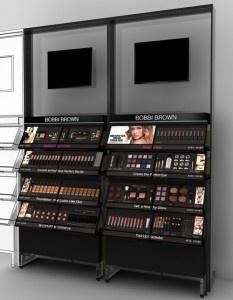 Bobbi Brown Branded Fixture makeup display #disruptiveretail
