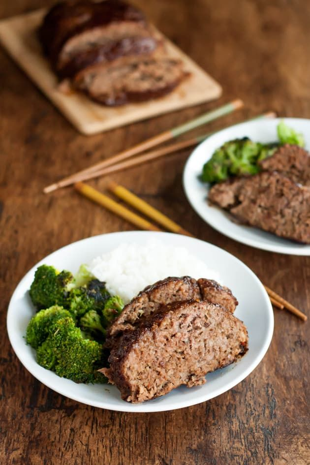 Gluten Free Teriyaki Meatloaf is topped with gluten free teriyaki sauce. Use unsweetened almond milk to make the meal dairy-free.