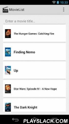 MovieList - Movie To-do List  Android App - playslack.com , Keep track of movies you would like to watch with MovieList!MovieList is a todo list for movies. Simply search for movies using our online movie database provider and add movies to your MoveList so you can remember what you want to watch next. Some of the features include: - Browse popular movies - Receive a push notification the day before a movie is being released in theaters! - Receive details of the movies you like including the…