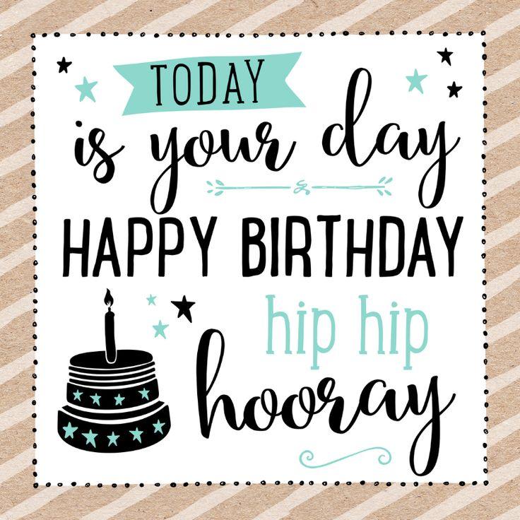 Trendy verjaardagskaart met taart en leuke tekst. Deze kaart heeft een binnenzijde.