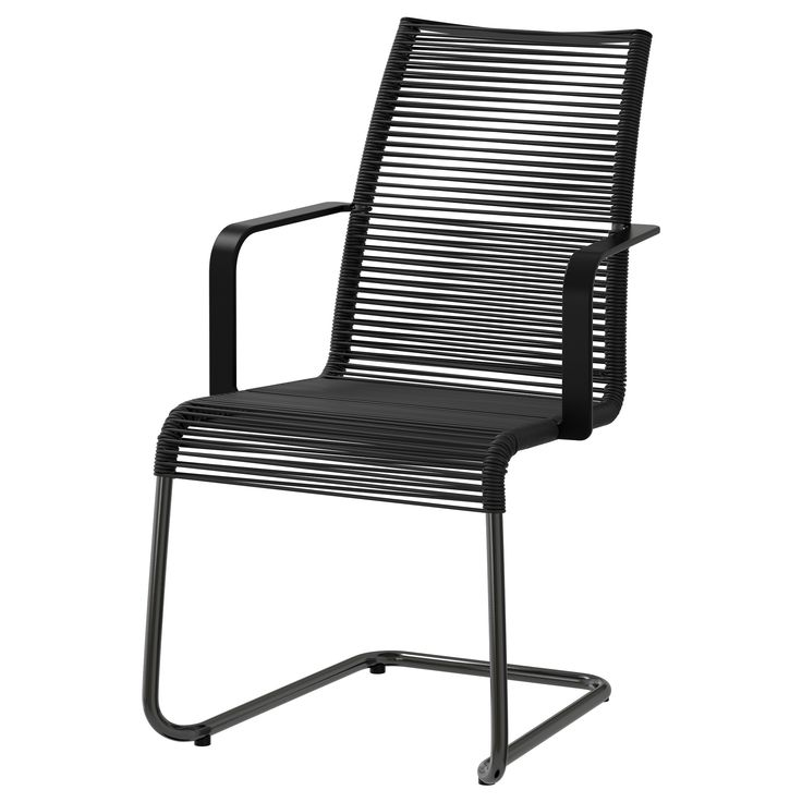 VÄSMAN Chair with armrests - black - IKEA