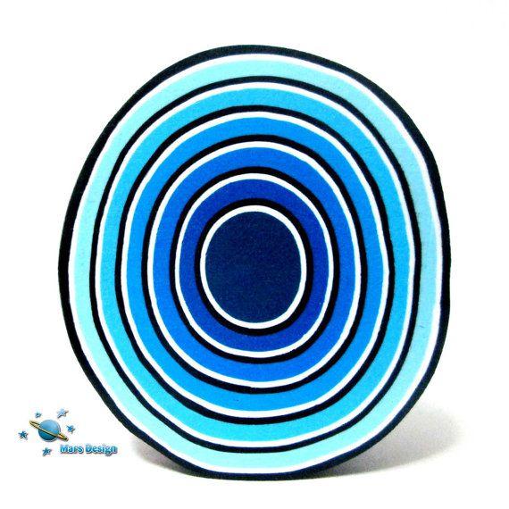 Polymer clay cane blue TUNNEL cane