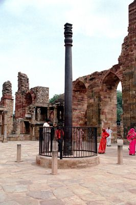 No one would guess that this Iron Pillar in Delhi, India, is 1,600 years old!  The technique used to make the pillar means that it has not been affected by the weather and has not rusted.