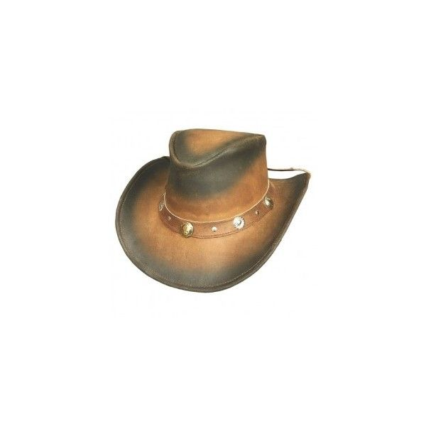 bunker-hill-borwn-leather-cowboy-hat-by-bullhide-931.jpg (295×295) ❤ liked on Polyvore featuring accessories, hats, western style hats, leather hat, cowgirl hats, cowboy hat and leather cowboy hats