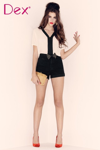 Classic black and white blouse from Dex only $48