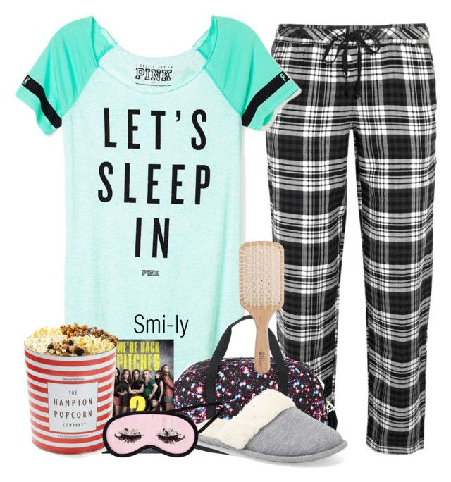 """""""Sleepover outfit"""" by smi-ley ❤ liked on Polyvore featuring DKNY, Victoria's Secret PINK, Victoria's Secret, H&M and Philip Kingsley"""