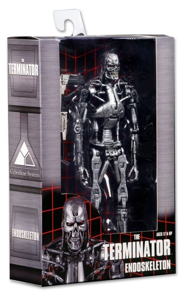 "The Terminator Endoskeleton T-800 with Plasma Rifle 7/"" Action Figure New In Box"