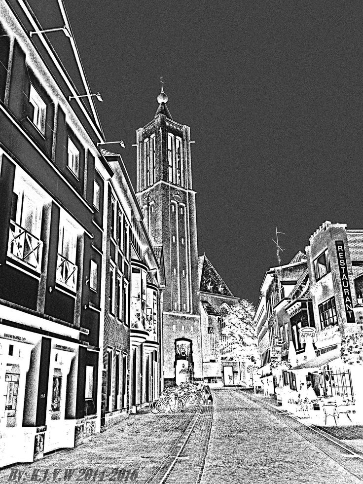 https://flic.kr/p/F9k1Xq | Kleine KerkStraat | I haven't  done this kinda effect, A long time ago.  Before version used in flic.kr/p/oW4nKg
