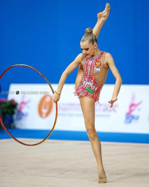 Junior Team Russia (Alina Ermolova, Maria Sergeeva and Polina Shmatko (in the photo) won GOLD at Junior Team all-around at European Championships (Holon) 2016
