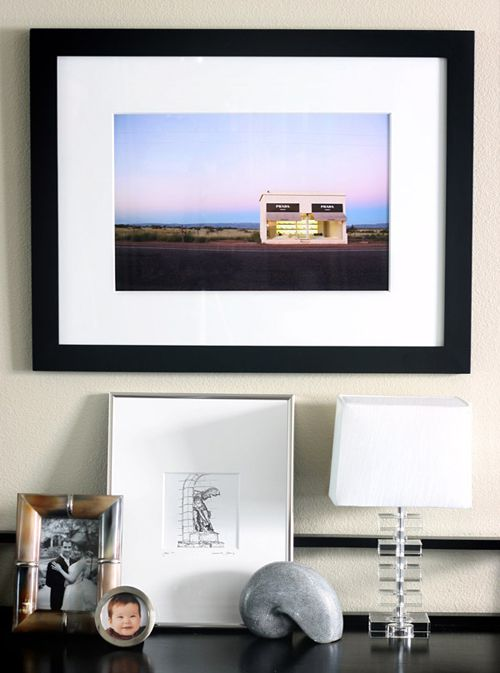 Prada Marfa framed in the home - available at a fab price on @Jonathan Nafarrete London Kings Lane today!