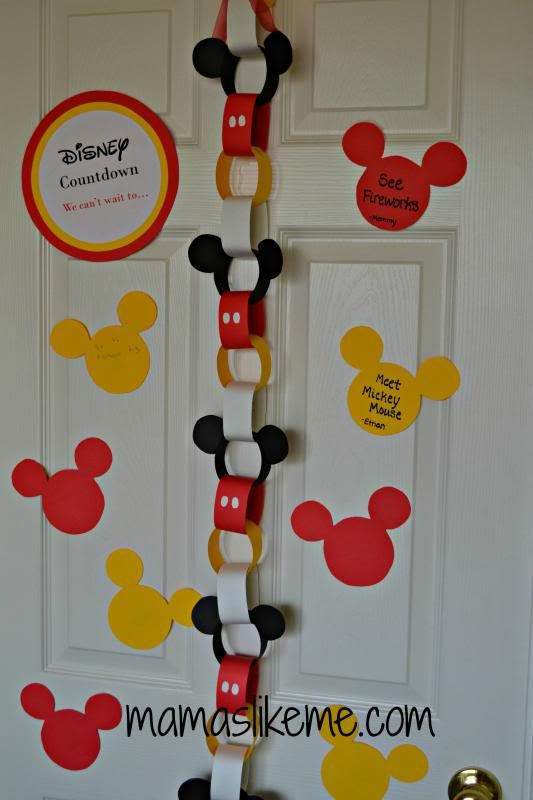 Mamas Like Me: Disney Countdown Ideas- one day :)