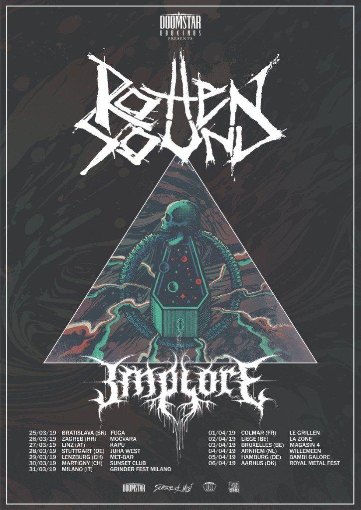 Rotten Sound Announce European Tour Dates With Implore European Tour Tours Dating