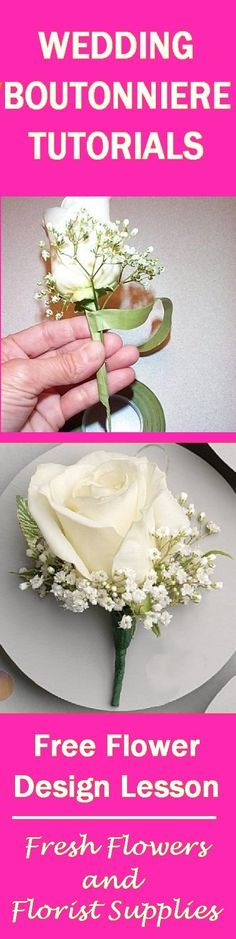 Learn how to make bridal bouquets, corsages, groom boutonnieres, reception table centerpieces and church wedding decorations.  Buy fresh flowers and discount florist supplies!