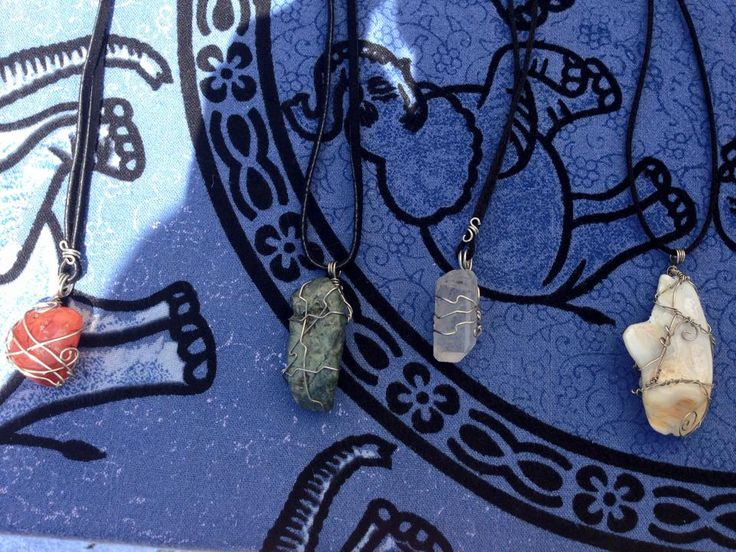 Random wraps, stones. quartz, shell...