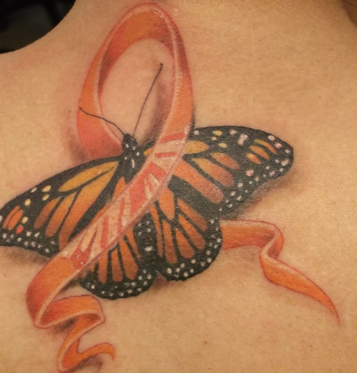 My new MS Awareness tattoo done in Puerto Vallarta