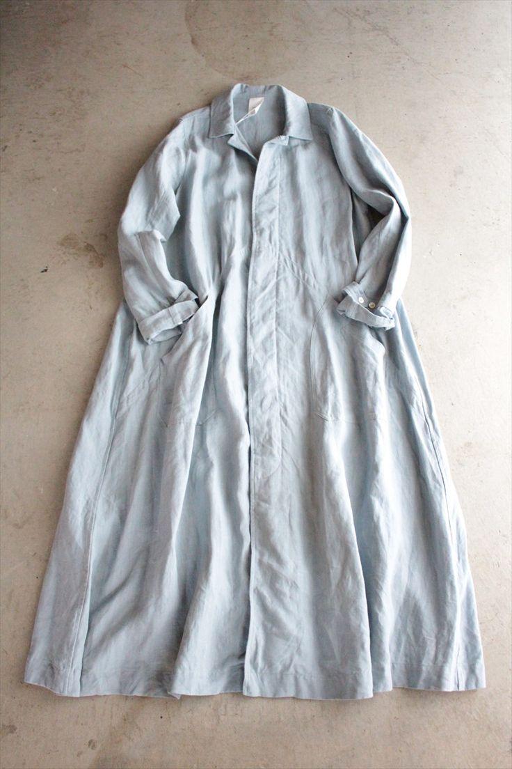 VC 1073 <br> Belgium linen long coat - Veritecoeur, OUTER - Veritecoeur (verite Cool)