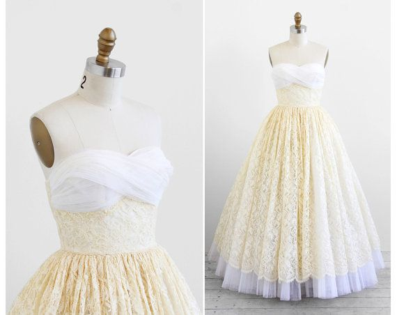 Vintage 1950s wedding gown wedding dress vintage dress for Pinterest wedding dress vintage
