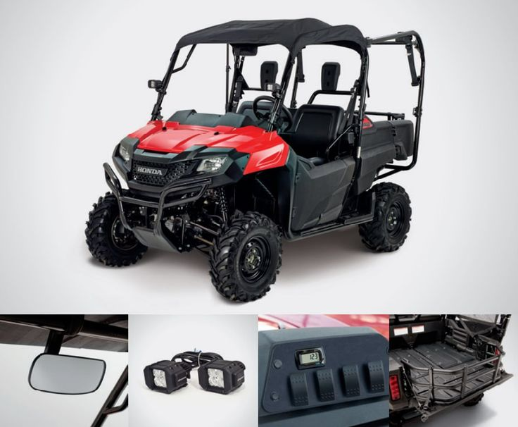 Honda Pioneer 700-4 Accessories Review   Soft Bimini Roof / Top, LED Auxillary , Switch Plate / Volt Meter / Wire Harness, Bed Extender   Discount Parts Prices + More by www.HondaProKevin.com