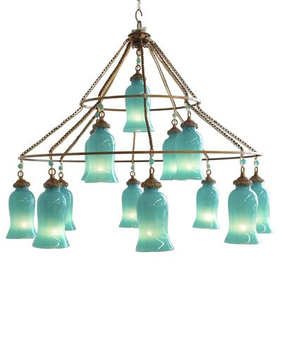 Canopy Designs Sara Chandelier - Large. This is absolutely beautiful for the stairwell if you go with an array of blues like turquoise, aquas, and navy's. Don't know what you're budget is...