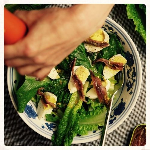Σαλάτα μαρούλι  με αντζούγιες — Paxxi