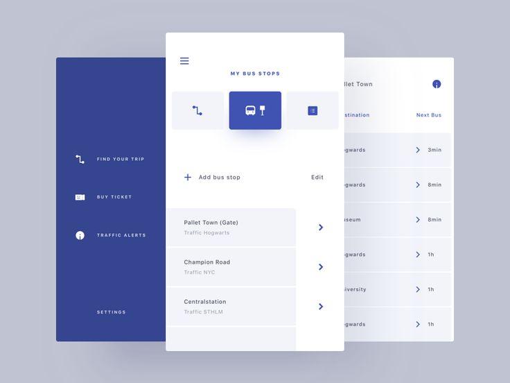Traffic (Bus) App UI