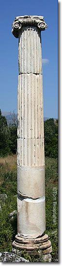 Ionic column at Aphrodisias, Aegean Turkey