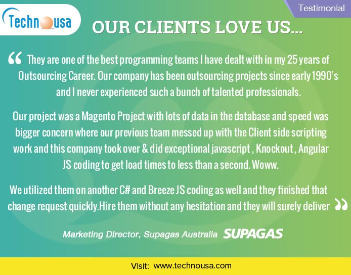 Technousa Consulting Services - Review   Testimonial