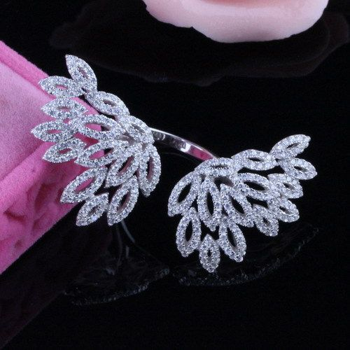 Aliexpress SJ Dazzling SJB0085 Synthetic Cubic Zirconia Diamond Silver Gold Plated Cubic Zirconia Butterfly Hollow Wing Ring, View Wing Ring , SJ Product Details from Yiwu Shangjie Jewelry Co., Ltd. on Alibaba.com