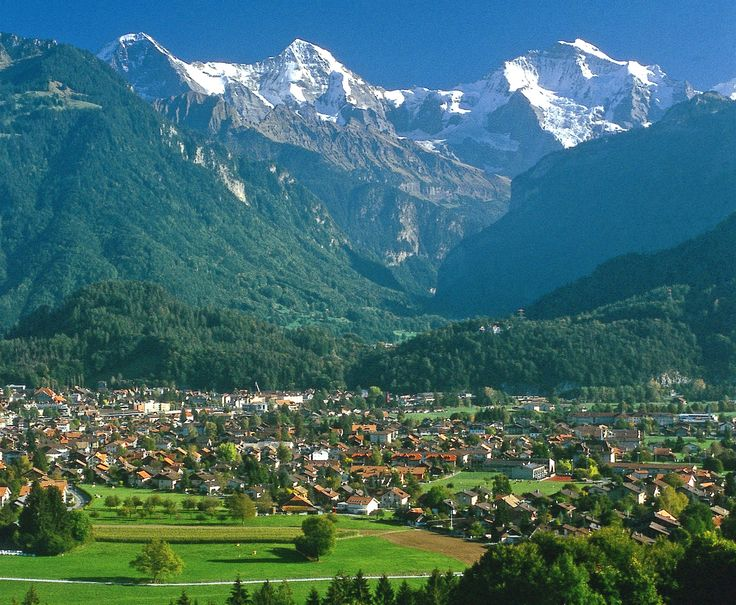 Interlaken, Switzerland ...a group of us went canyoning in these mountains :)