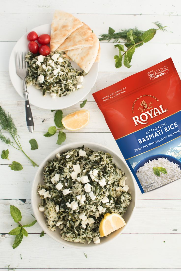 Check out our take on the classic Greek dish spanakorizo - our basmati rice is cooked up with plenty of spinach and seasoned with lemon and dill -- and don't forget the good oil!