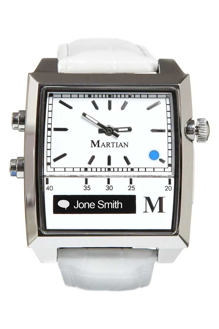 Martian Watches 'Passport' Rectangle Silicone Strap Smart Watch, 37mm x 39mm by Martian Smartwatch on @nordstrom_rack