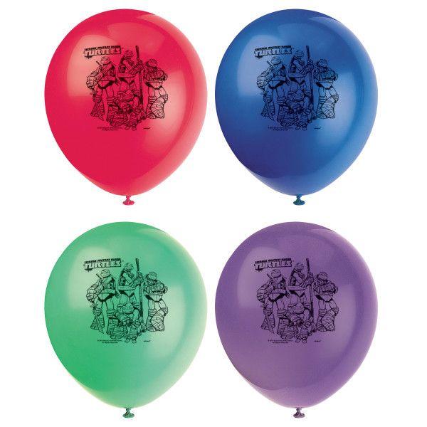 "Ninja Turtles 12"" Latex Balloons, 8ct."