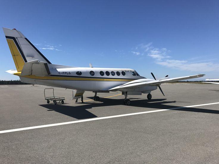 Notre p'tite avion privée... Arrivée à l'aéroport d'Anticosti