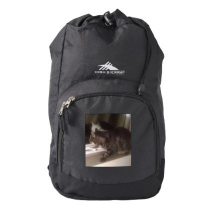 Not Talking to you Dave High Sierra Backpack - cat cats kitten kitty pet love pussy