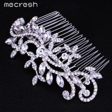 Mecresh Feuille Cristal De Mariée Bijoux De Mariage Cheveux Accessoires Cheveux Peignes Couronne Tiara Chaud Vente FS001(China (Mainland))