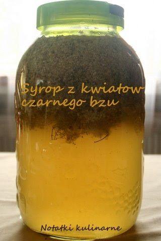 Składniki:  2 kg cukru 2 litry wody 100 g kwasku cytrynowego 50 kwiatków bzu czarnego  Wodę zagotować z cukrem, dodać kwasek, ostudzić. C...