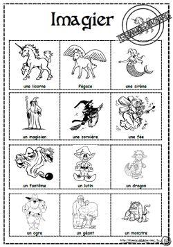 Personnages imaginaires et contes à utiliser pour des rédiger des portraits