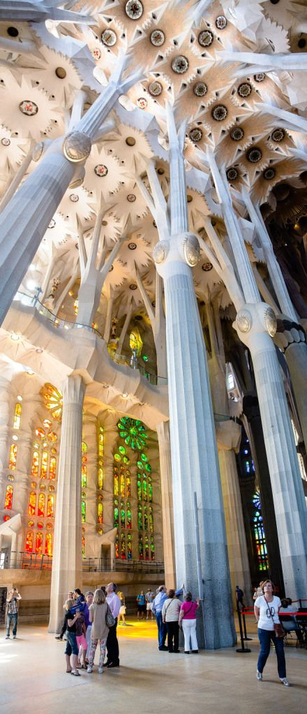 #OMG #Sagrada_Familia Interior Panorama,  Barcelona, designed by Catalan Architect #Antoni_Gaudí via @topupyourtrip