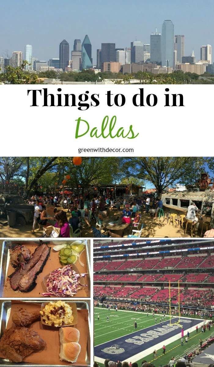 A great list of things to do in Dallas, including delicious restaurants, downtown views and Dallas Cowboys football!