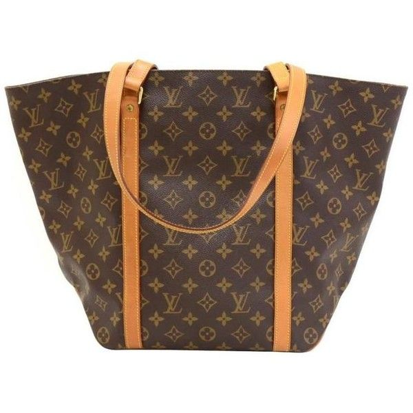 Preowned Louis Vuitton Sac Shopping Monogram Canvas Shoulder Tote Bag (9.615 ARS) ❤ liked on Polyvore featuring bags, handbags, tote bags, multiple, louis vuitton tote, shopper tote, shopping bag, canvas tote bags and monogrammed canvas tote bags