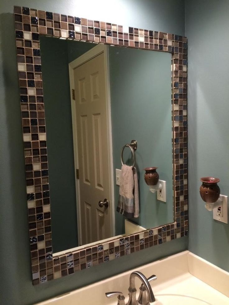 tile bathroom mirror frame best 25 tile mirror frames ideas on 20813