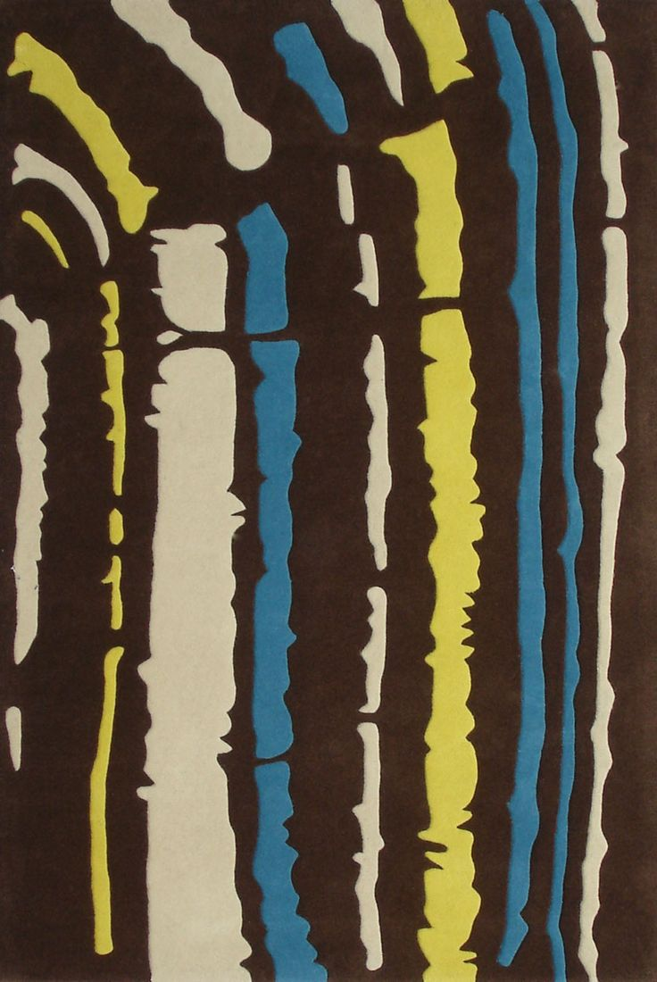 African influence 'Trax' rug