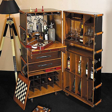 Stateroom Steamer Trunk Bar at Wine Enthusiast - $2,929.00. I think I'd love this!
