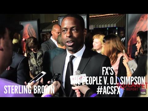 "Sterling Brown ""Christopher Darden"" at the premiere of FX's The People v. O.J. Simpson #ACSFX @SterlingKB1 #PeoplevOJSimpson"