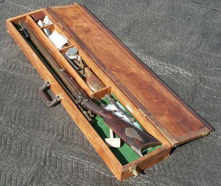 Cherry Amp Walnut Rifle Case 1841 Wesson Civil War Sniper