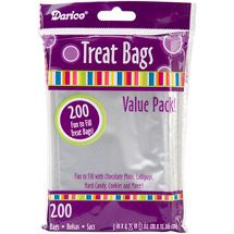 Walmart: 3'' x 4.75'' Clear Treat Bags, 200-Pack