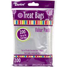 Walmart: 3'' x 4.75'' Clear Treat Bags, 200-Pack