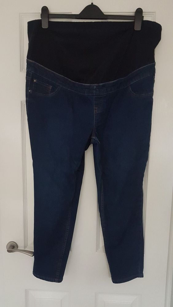 379b751ad8d4f New Look Emilee Over The Bump Blue Jeggings - Size 16 - 28